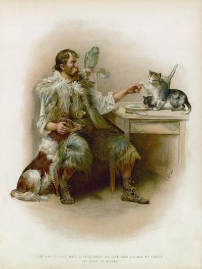 Illustration for Robinson Crusoe-Joseph Finnemore-Giclee Print
