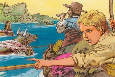 Illustration for Swiss Family Robinson--Giclee Print
