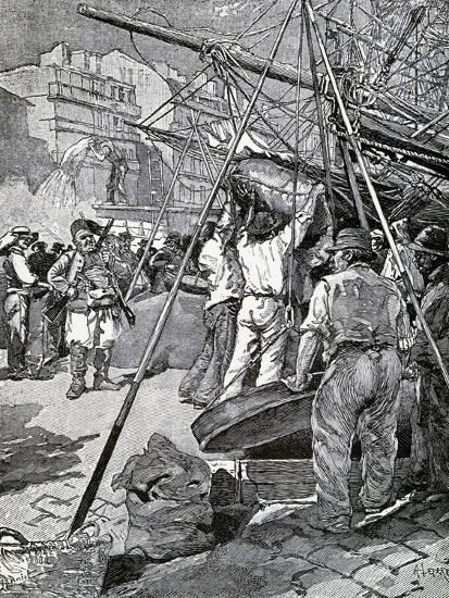 Illustration for Tartarin of Tarascon, Novel by Alphonse Daudet--Giclee Print