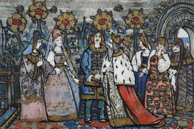 Illustration for the Fairy Tale of the Tsar Saltan by A. Pushkin-Sergei Vasilyevich Malyutin-Giclee Print