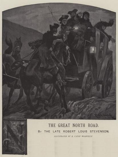 Illustration for the Great North Road-Richard Caton Woodville II-Giclee Print