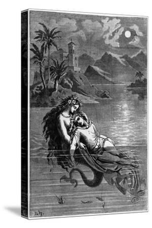 """Illustration for """"The Little Mermaid"""" from Fairy Tales by Hans Christian Andersen 1869"""