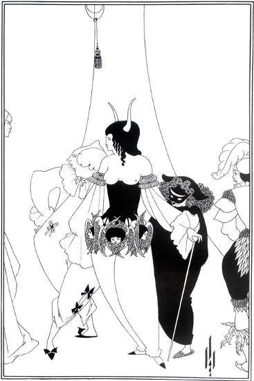 """Illustration for """"The Masque of the Red Death"""" by Edgar Allan Poe, 1895-Aubrey Beardsley-Giclee Print"""