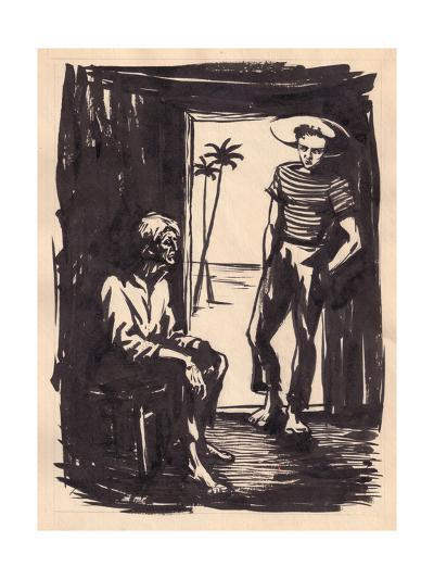 Illustration for 'The Old Man and the Sea' by Ernest Hemingway, 1962-Vadim Petrovich Volikov-Giclee Print