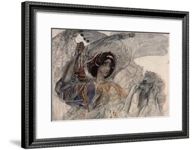 Illustration for the Poem Prophet by A. Pushkin-Mikhail Alexandrovich Vrubel-Framed Giclee Print