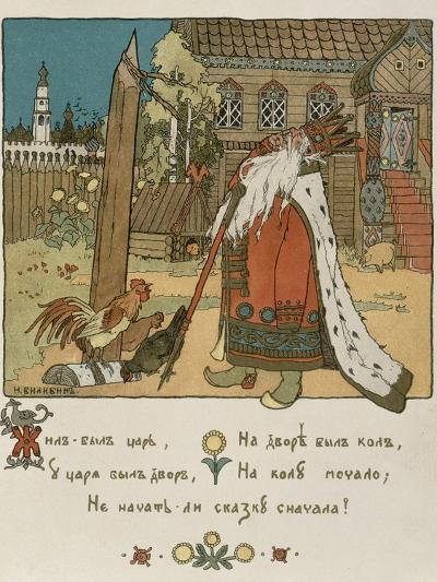 Illustration For the Poem The Tale of the Golden Cockerel by Alexander Pushkin-Ivan Bilibin-Giclee Print