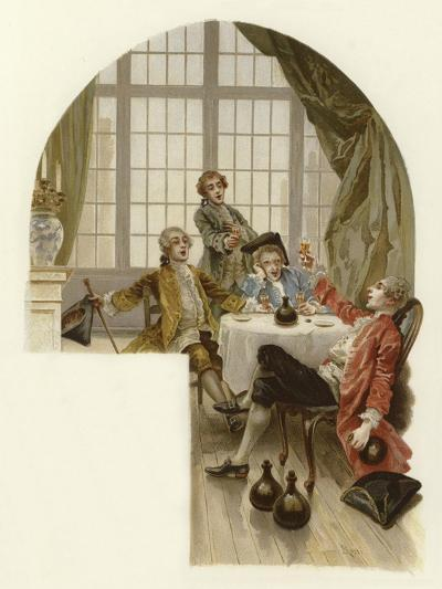 Illustration for the School for Scandal-Lucius Rossi-Giclee Print