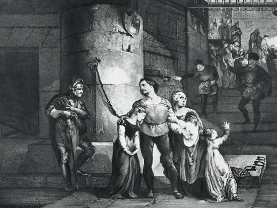 Illustration for the Tragedy Il Conte Di Carmagnola--Giclee Print