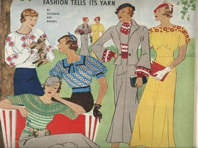 Illustration from a Fashion Magazine, 1920S--Giclee Print