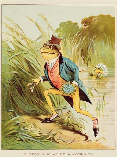 Illustration from 'A Frog He Would A-Wooing Go'-Randolph Caldecott-Giclee Print