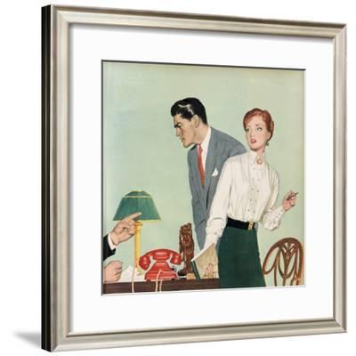 Illustration from a Women's Magazine, 1954--Framed Giclee Print