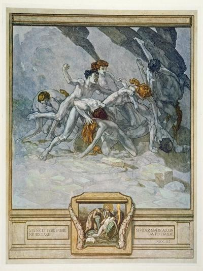 Illustration from Dante's 'Divine Comedy', Inferno, Canto Xxx: 22, 1921 (W/C on Paper)-Franz Von Bayros-Premium Giclee Print