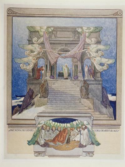 Illustration from Dante's 'Divine Comedy', Purgatory, 1921-Franz Von Bayros-Giclee Print