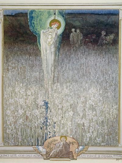 Illustration from Dante's 'Divine Comedy', Purgatory, Canto XXVIII: 130, 1921-Franz Von Bayros-Giclee Print