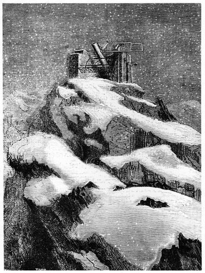 Illustration from De La Terre a La Lune by Jules Verne, 1865--Giclee Print