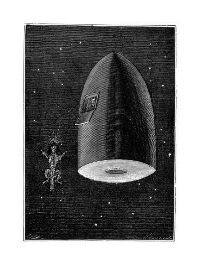 Illustration from De La Terre a La Lune by Jules Verne, 1865--Giclee Print