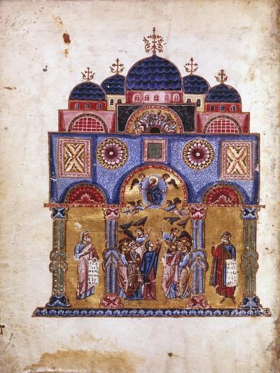 Illustration from Homilies on the Virgin, Byzantine Manuscript, 12th Century- James of Kokkinobaphos-Giclee Print