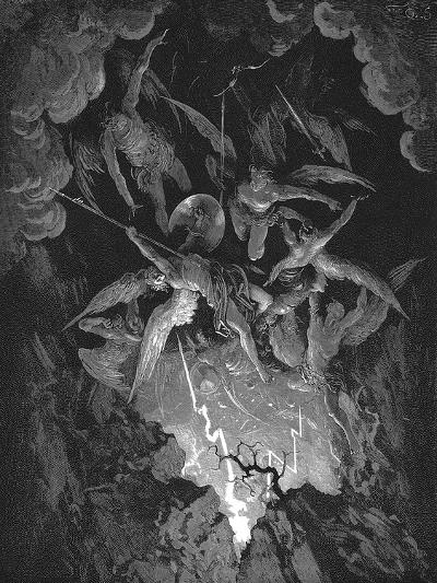 Illustration from John Milton's Paradise Lost, 1866-Gustave Dor?-Giclee Print