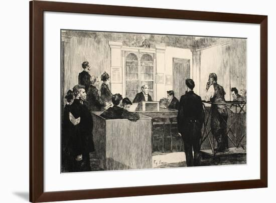 Illustration from 'La Rue a Londres', Pub. by G. Charpentier Et Cie, 1884-Auguste Andre Lancon-Framed Premium Giclee Print