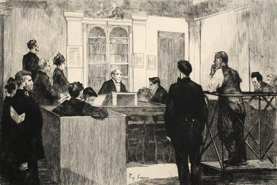 Illustration from 'La Rue a Londres', Pub. by G. Charpentier Et Cie, 1884-Auguste Andre Lancon-Giclee Print
