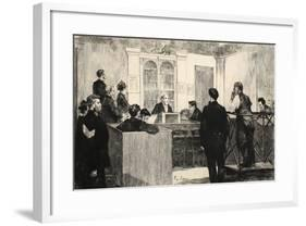 Illustration from 'La Rue a Londres', Pub. by G. Charpentier Et Cie, 1884-Auguste Andre Lancon-Framed Giclee Print