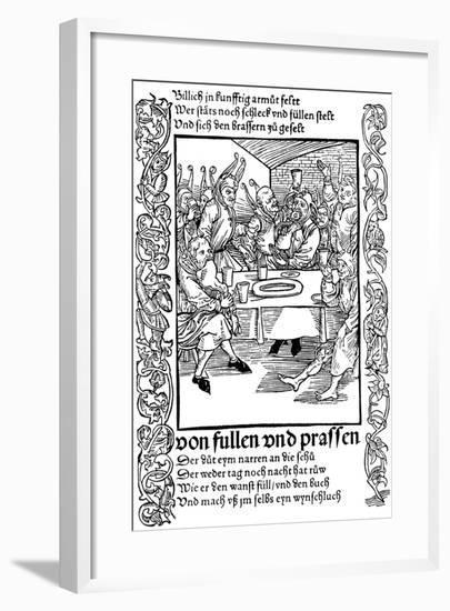 Illustration from the Book Ship of Fools by Sebastian Brant, 1494-Albrecht Durer-Framed Giclee Print