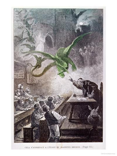 """Illustration from """"The Castle of the Carpathians"""" by Jules Verne 1892--Giclee Print"""
