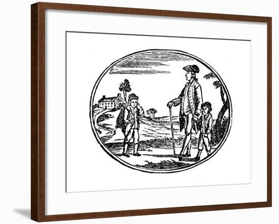 Illustration from the Children's Book Cobwebs to Catch Flies, C1800--Framed Giclee Print