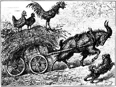 Illustration from the Children's Book Little Bo-Peep, C1880-Ernest Henry Griset-Giclee Print