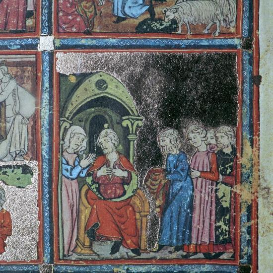 Illustration from the Golden Haggadah, 15th century-Unknown-Giclee Print