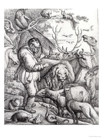 Illustration from the Introduction to Aesop's Fables, 1666-Francis Barlow-Giclee Print