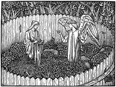 Illustration from the Kelmscott Press Edition of the Works of Geoffrey Chaucer, 1896-Edward Burne-Jones-Giclee Print