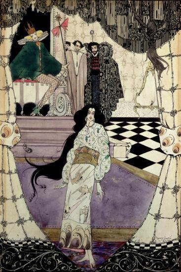 Illustration from the Little Mermaid, 1914-Harry Clarke-Giclee Print