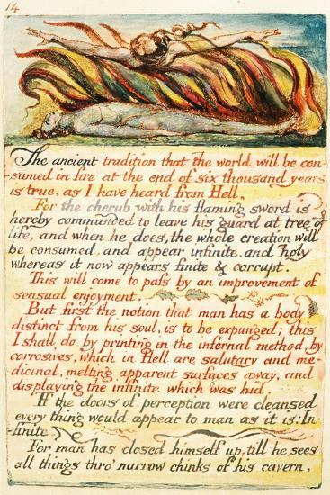 Illustration from 'The Marriage of Heaven and Hell', C.1808-William Blake-Giclee Print