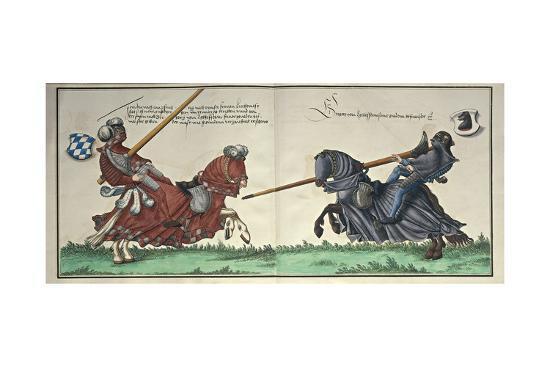 Illustration from Turnier Buch Depicting Wilhelm Von Bayern Clashing with Wolf Graf Zu Montfort--Giclee Print