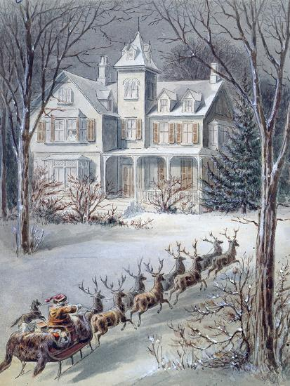Illustration from 'twas the Night before Christmas' Written by Professor Clement Clarke Moore…--Giclee Print