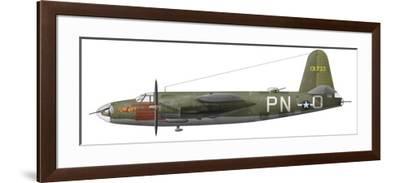 Illustration of A-B-26 Marauder-Stocktrek Images-Framed Art Print
