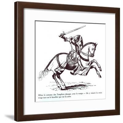 Illustration of a Knight Templar--Framed Giclee Print