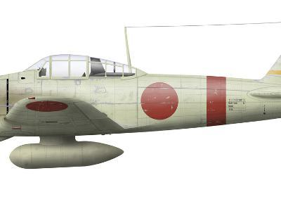 Illustration of a Mitsubishi A6M2 Zero Fighter Plane-Stocktrek Images-Photographic Print