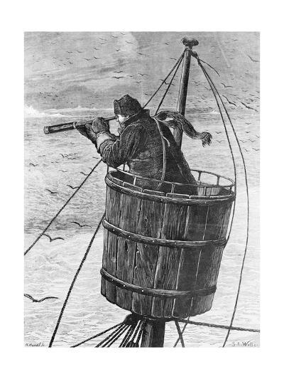 Illustration of a Sailor in Crows Nest--Giclee Print