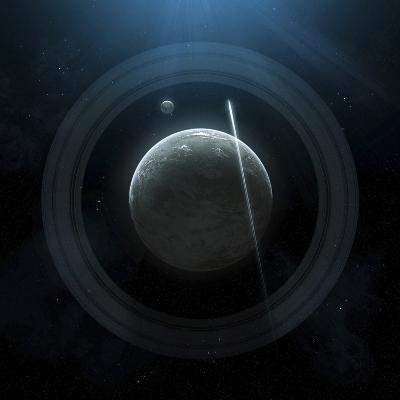 Illustration of a Simple Planet and its Ring System-Stocktrek Images-Photographic Print