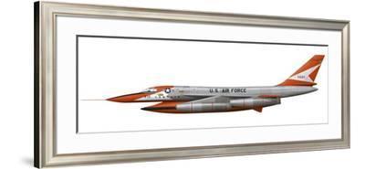 Illustration of a Yb-58A-1-Cf Hustler-Stocktrek Images-Framed Art Print