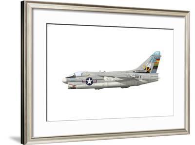 Illustration of an A-7E Corsair Ii Ne-300-Stocktrek Images-Framed Art Print