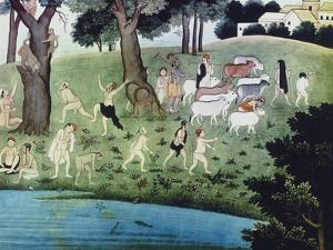 Illustration of an Episode from the Bhagavad Purana