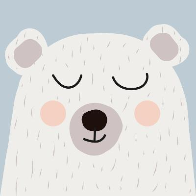Illustration of Cute Bear-Guaxinim-Art Print
