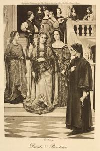 Illustration of Dante and Beatrice