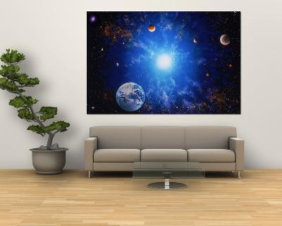 Illustration of Earth and Glowing Star-Ron Russell-Giant Art Print