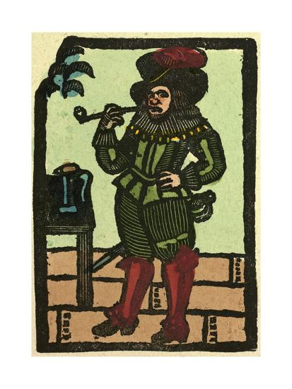 Illustration of English Tales Folk Tales and Ballads. a Man Smoking a Pipe--Giclee Print