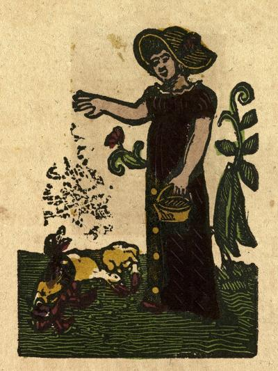 Illustration of English Tales Folk Tales and Ballads. a Woman Feeding Ducks--Giclee Print