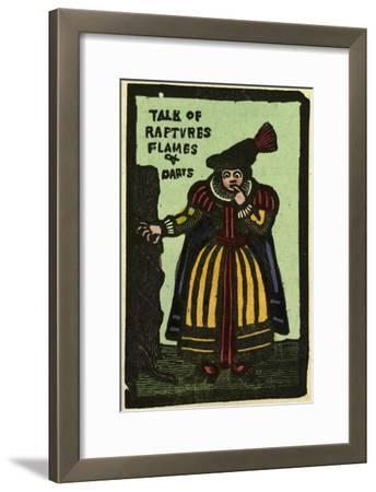 Illustration of English Tales Folk Tales and Ballads. a Woman. Talk of Flames and Darts